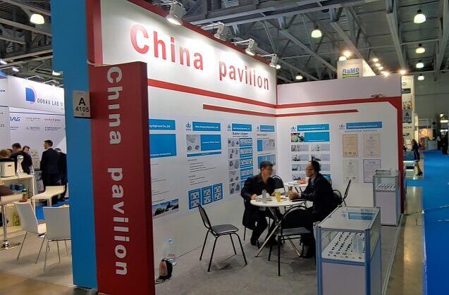 Китайский павильон на выставке PHARMTECH & INGREDIENTS - 2019 в Москве