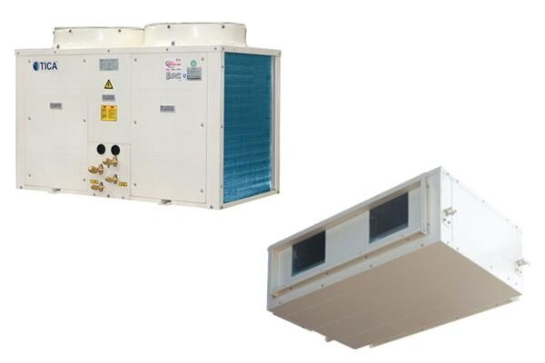 Компрессорно-конденсаторный блок и канальный высоконапорный блок