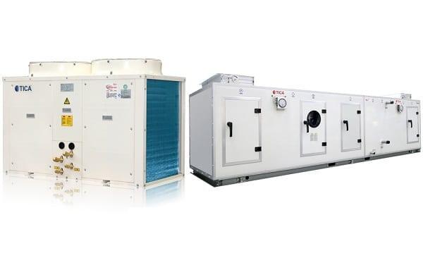 Вентиляционная установка c компрессорно-конденсаторным блоком