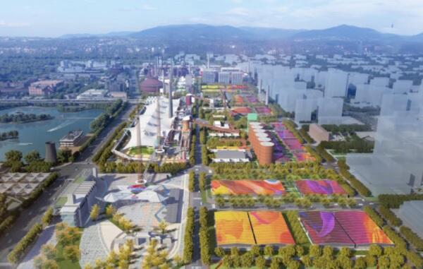 Выставочные павильоны в парке Шуган (Пекин)